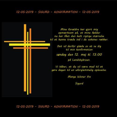 E-konfirmationsinvitation med kors