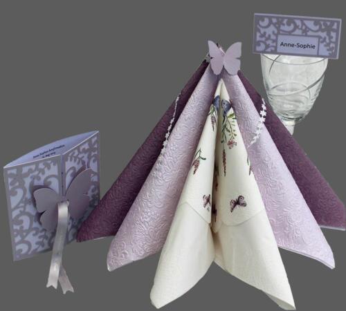 Konfirmationskort med sommerfugl