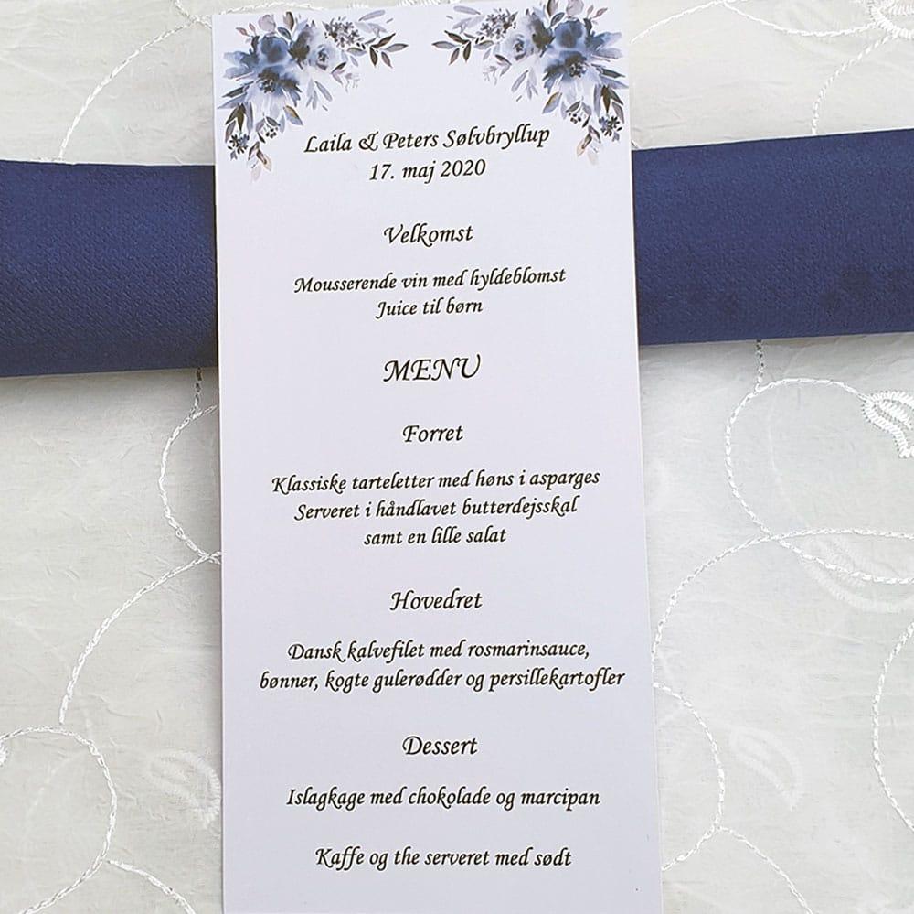 Blomsterkort - menukort