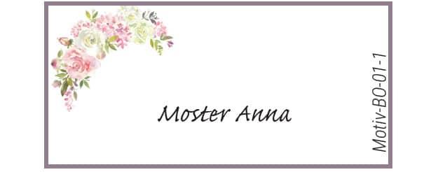 Bordkort med roser - Motiv BO-01-1