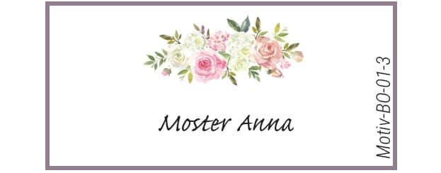 Bordkort med roser - Motiv BO-01-3