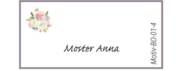 Bordkort med roser - Motiv BO-01-4