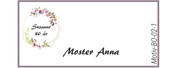 Bordkort med kirsebærblomst - Motiv BO-02-1