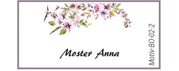 Bordkort med kirsebærblomst - Motiv BO-02-2