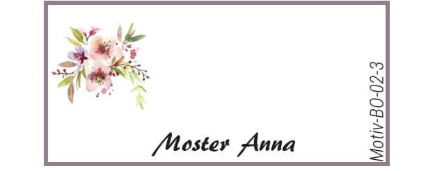 Bordkort med kirsebærblomst - Motiv BO-02-3