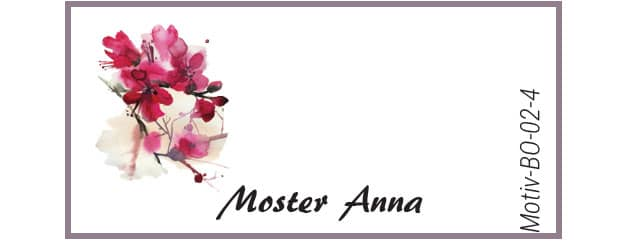 Bordkort med kirsebærblomst - Motiv BO-02-4
