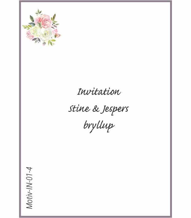 Invitation med roser - Motiv IN-01-4