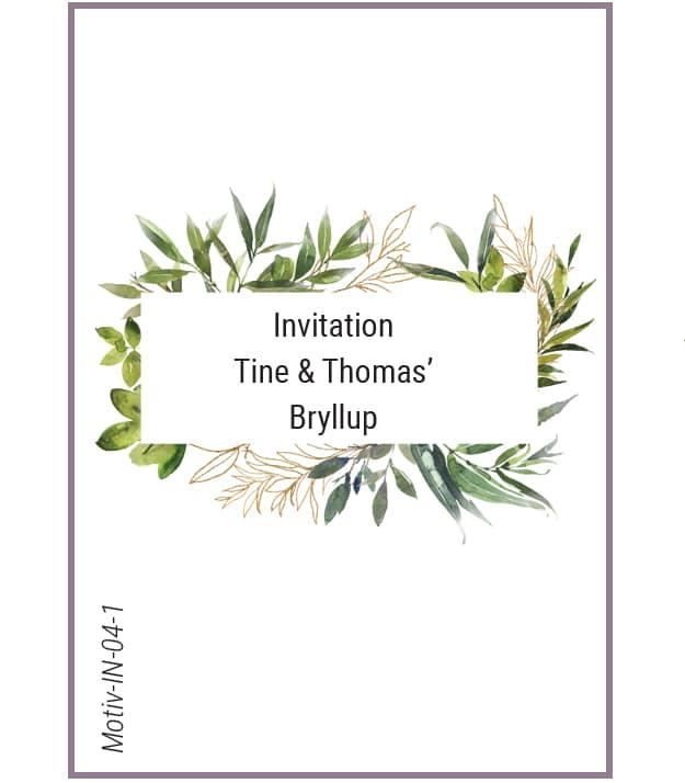 Invitation ramme af grønne blade