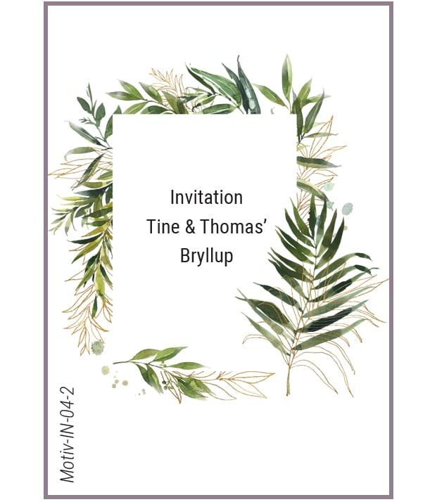 Invitation palmeblade