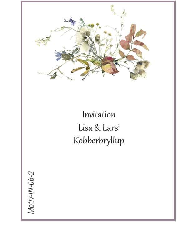 Invitation med efterårsblomst