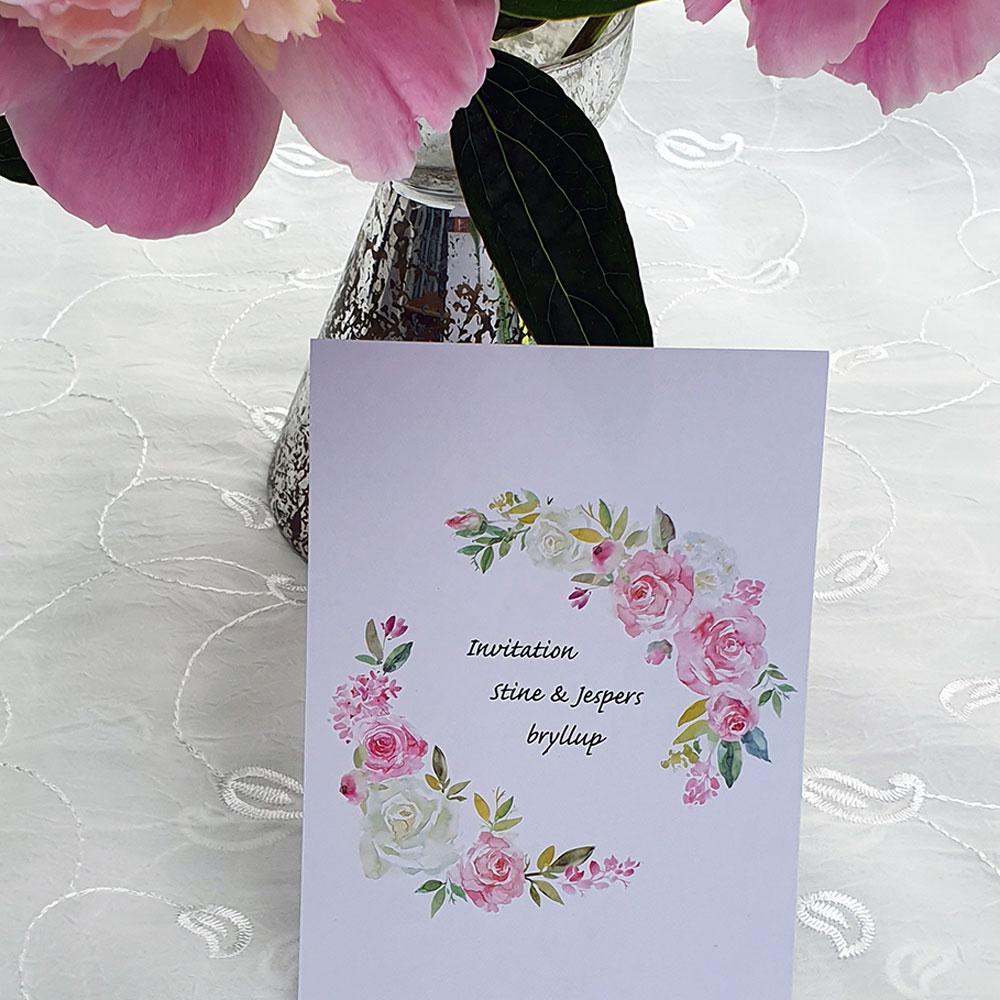 Blomsterkort invitationskort / takkekort