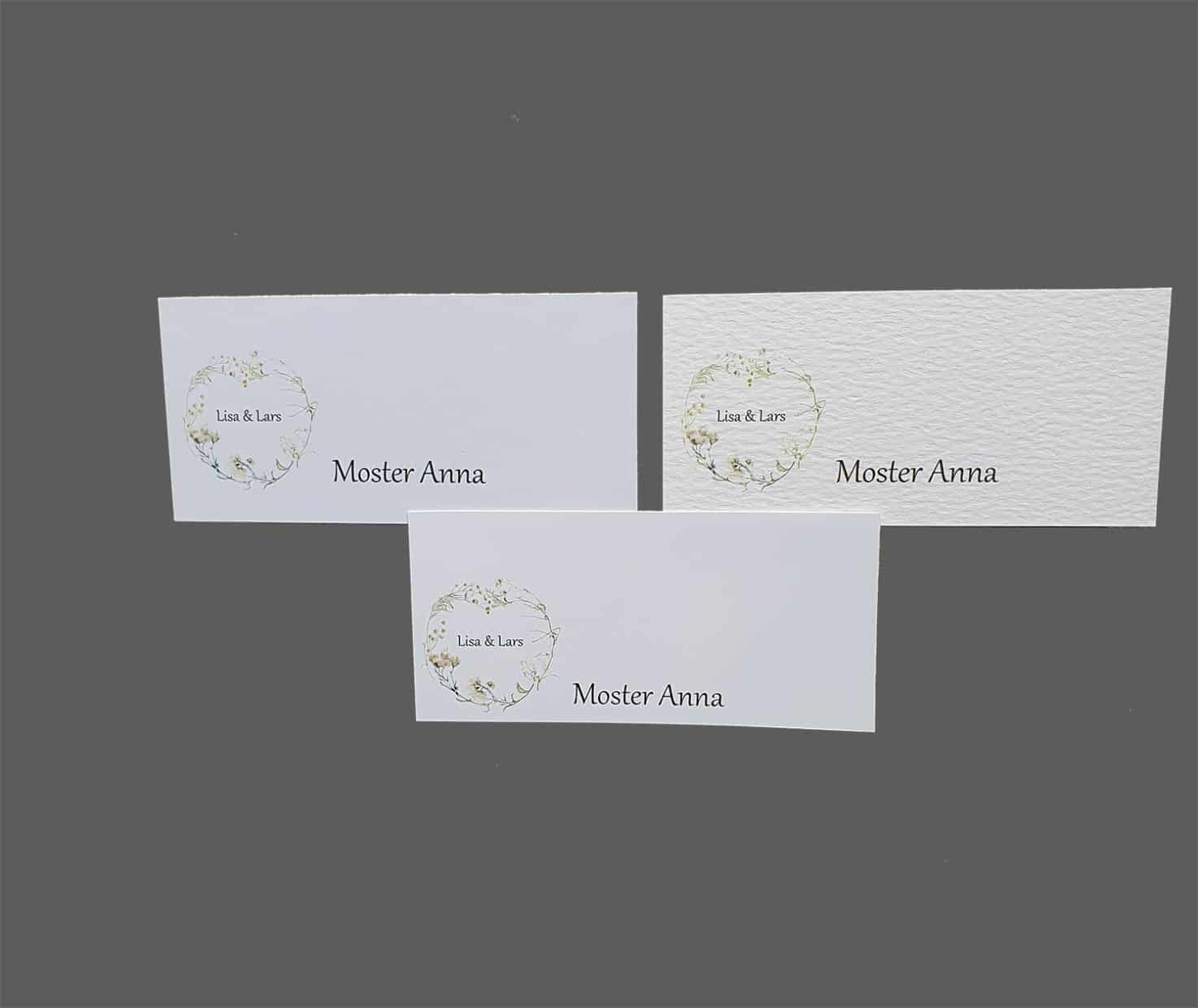 Bordkort med løvfald printet på karton