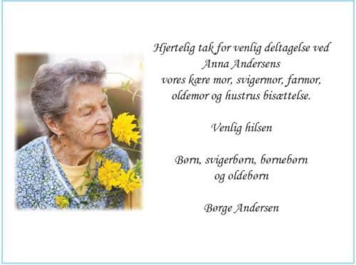 Personligt takkekort med foto