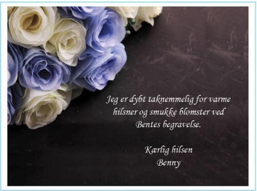 Begravelseskort med blomster