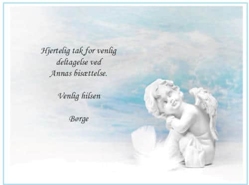 Takkekort med engel