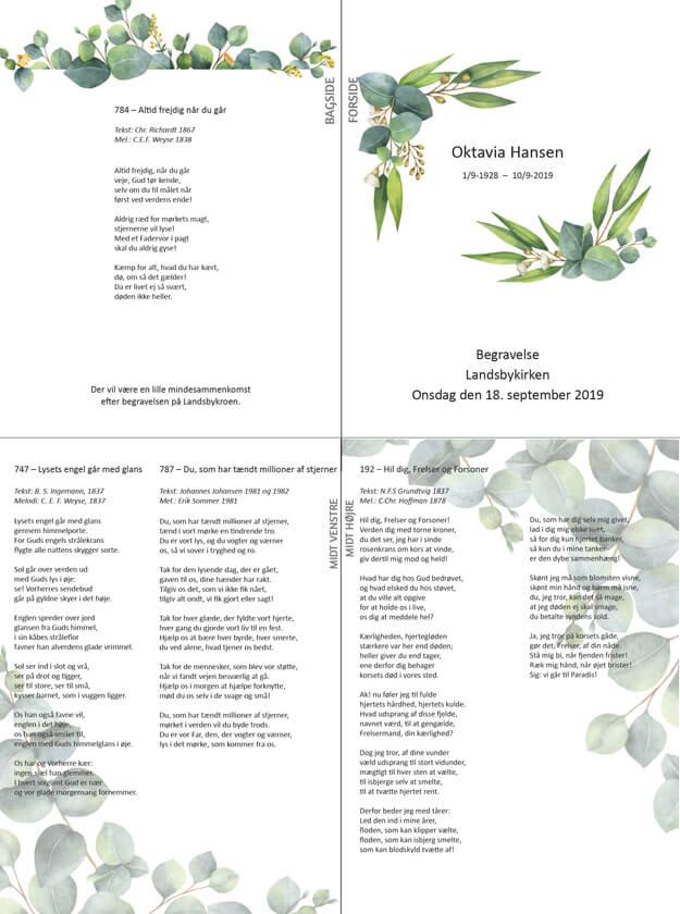 Salmehæfte med blade