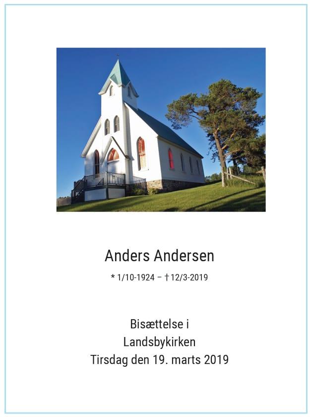 Salmehæfte med foto af kirke