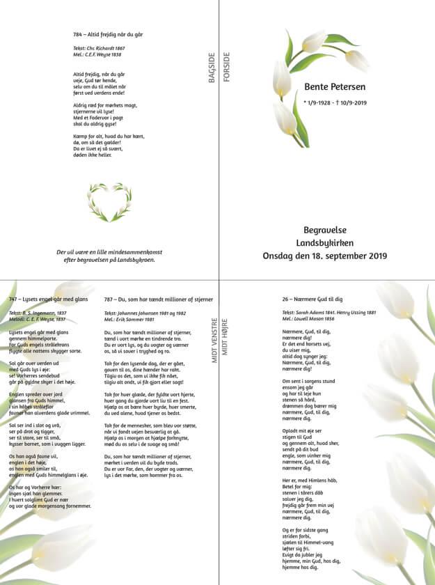 Salmeblade tulipan