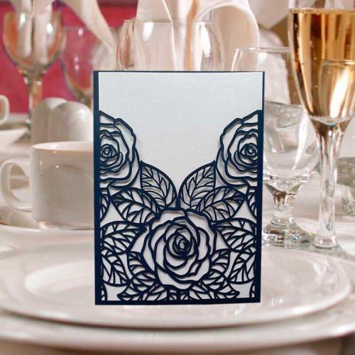 invitation med roser