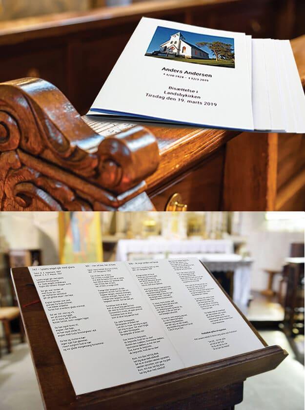 Salmehæfter i kirke