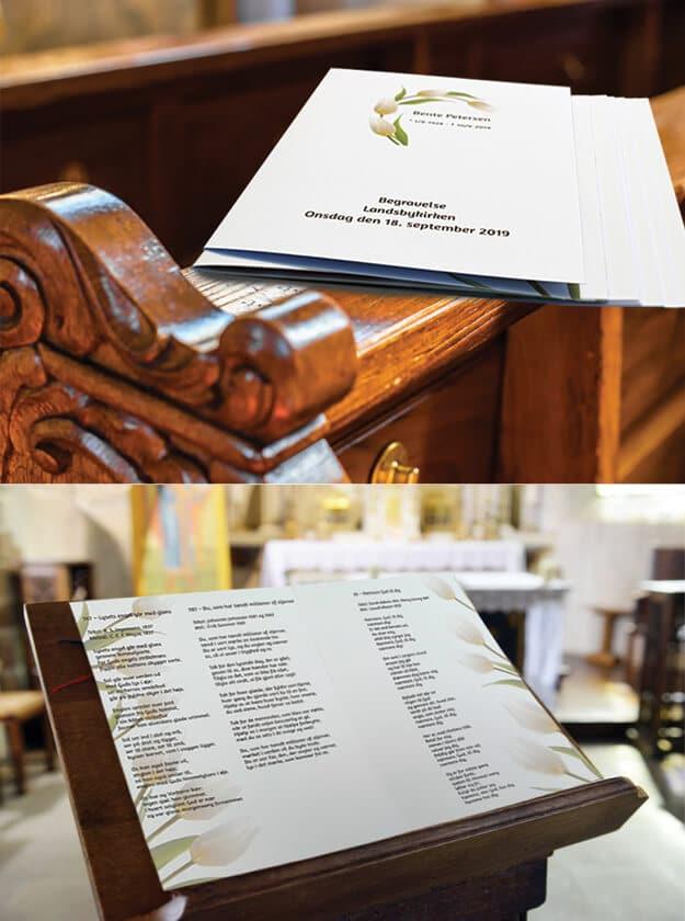 Personlige salmeblade i kirke