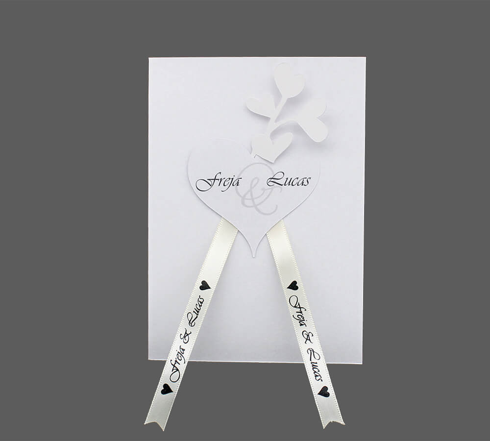 Invitation til bryllup Amor