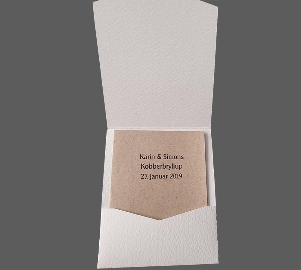 Pocket kort med menu