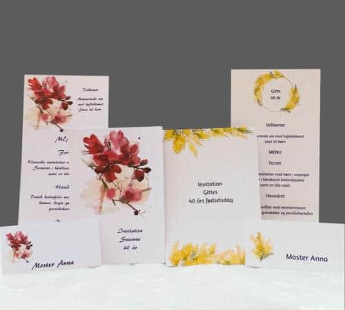 Blomsterkort til fødselsdag