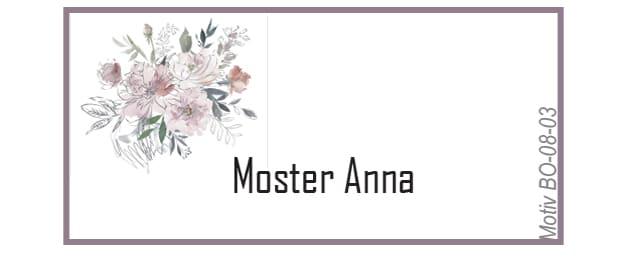 Bordkort i støvede rosa/blå nuancer