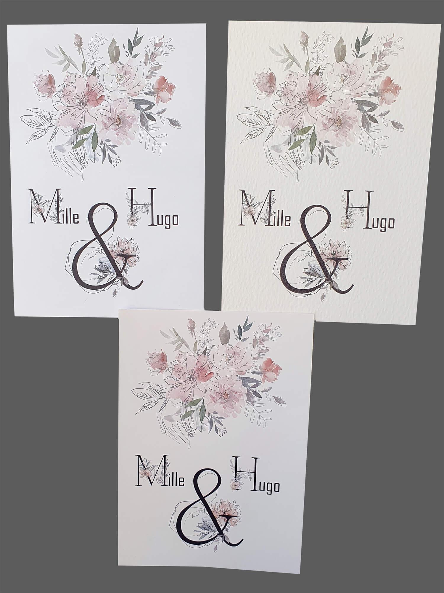 Print af invitationer på lukuskarton