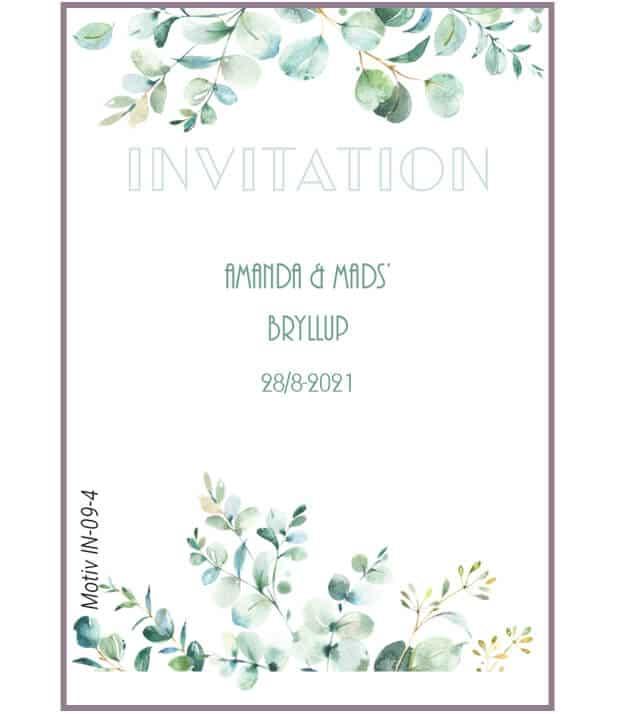 Invitation med eucalyptus ranker
