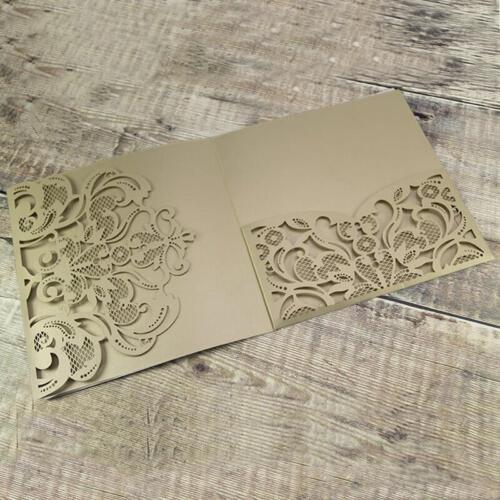 Champagnefarvet pocket kort med flot flap og lomme