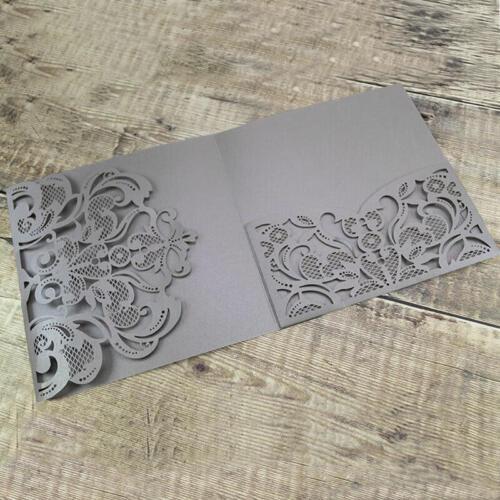 Sølvgrå pocketkort med mønstret flap og lomme