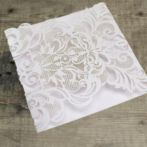 Omslagskort med udskårede flapper - hvid
